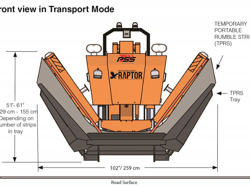 Front View Drawing, Transport Mode
