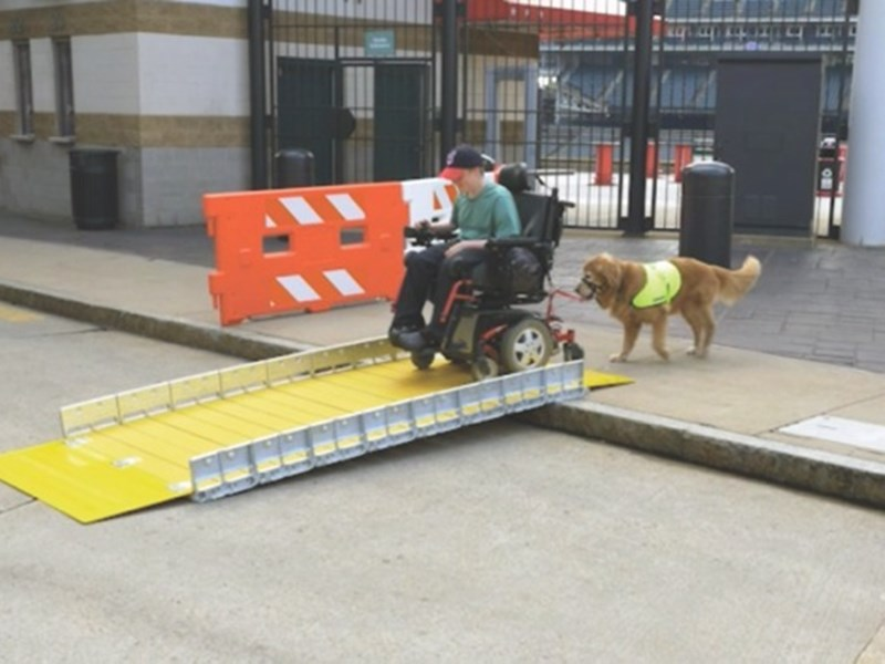 BoardWalk RAMP is wheelchair friendly